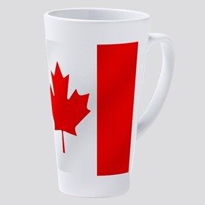 Flag Of Canada 17 Oz Latte Mug