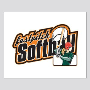 Fast Pitch Softball Small Poster