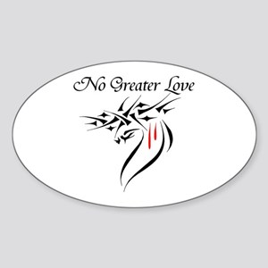 No Greater Love Oval Sticker