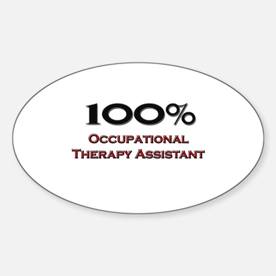 100 Percent Occupational Therapy Assistant Decal