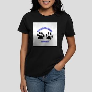 Mountain Lion Track Pair Women's Dark T-Shirt