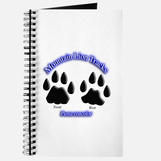 Mountain Lion Track Pair Journal