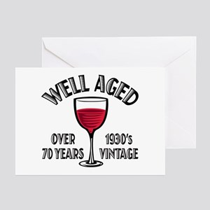 Over 70th Birthday Greeting Cards (Pk of 20)