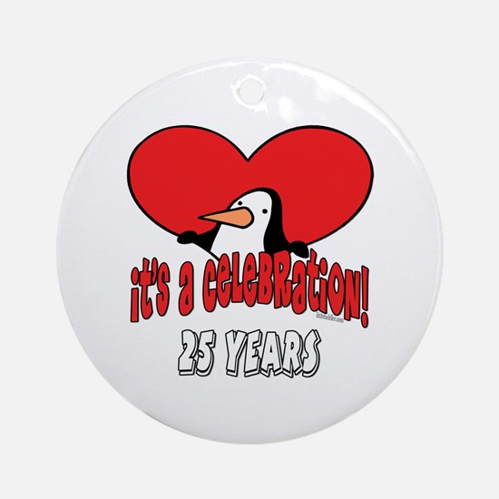 25th Celebration Ornament (Round)