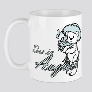 Due August Blue Flower Teddy Mug