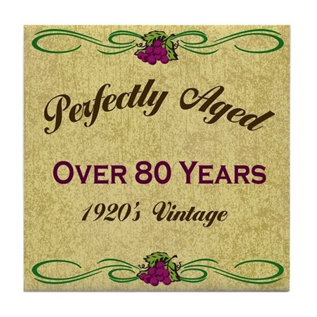 Over 80 Years Tile Coaster