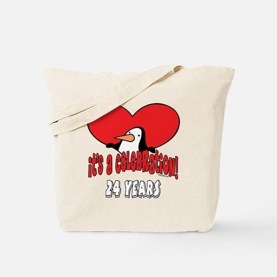 24th Celebration Tote Bag