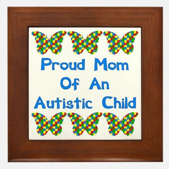 Proud Mom Framed Tile