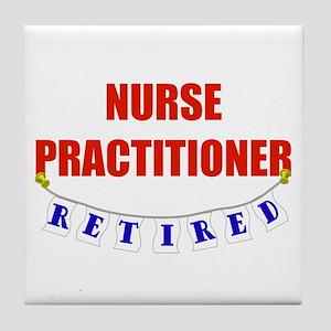 Retired Nurse Practitioner Tile Coaster
