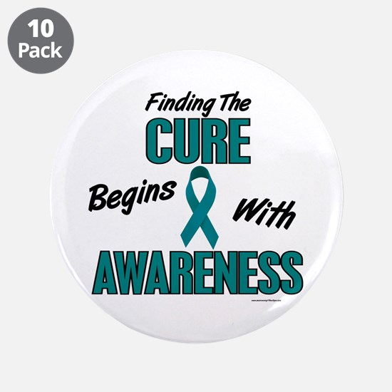 """Begins With Awareness 1 (TEAL) 3.5"""" Button (10 pac"""