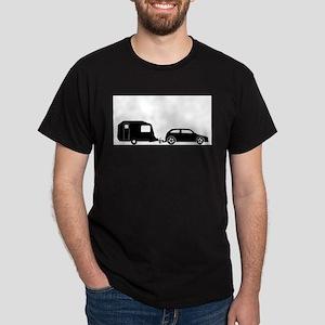 Car Towing Caravan Silhouette T-Shirt