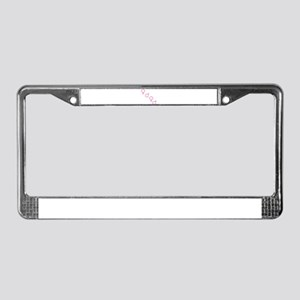 Pink Foursome License Plate Frame