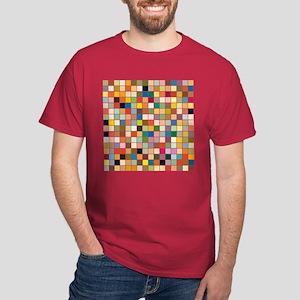 Random Color Blocks Dark T-Shirt