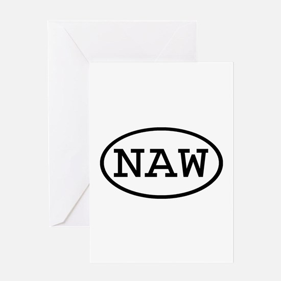 NAW Oval Greeting Card