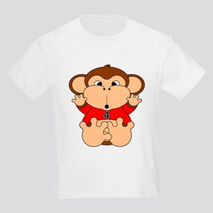 Four Year Old Monkey Kids Light T-Shirt