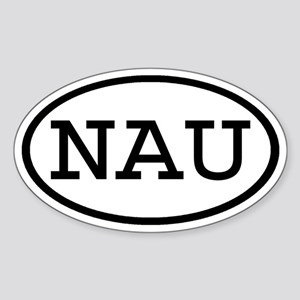 NAU Oval Oval Sticker