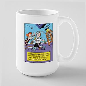 Bad Luck Mirror Large Mug