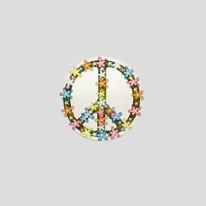 Peace Flowers Mini Button