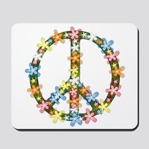 Peace Flowers Mousepad