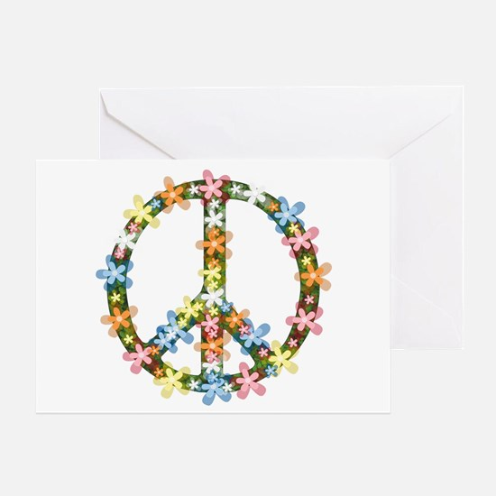 Peace Flowers Greeting Card