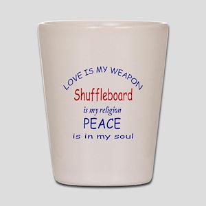 Shuffleboard is my Religion Shot Glass
