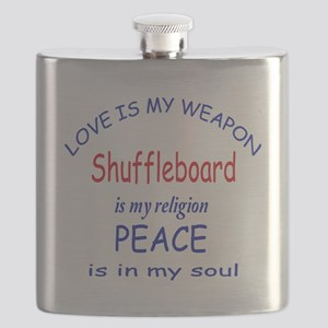 Shuffleboard is my Religion Flask