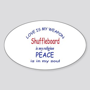 Shuffleboard is my Religion Sticker (Oval)