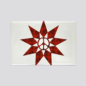 Red Star Of Peace Rectangle Magnet