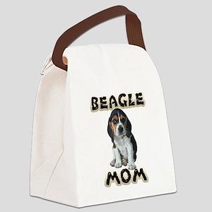 Beagle Mom Canvas Lunch Bag