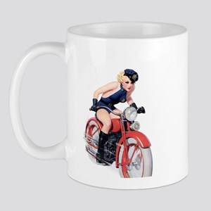 Motorcycle Girl Mug