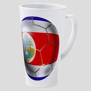 Costa Rica Soccer Ball 17 Oz Latte Mug