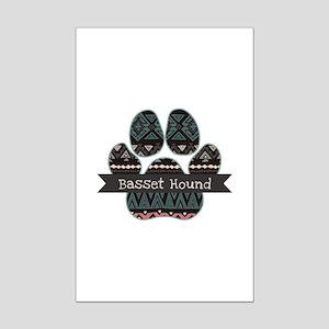Basset Hound Mini Poster Print