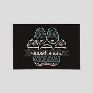 Basset Hound 4' x 6' Rug