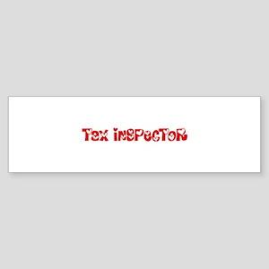 Tax Inspector Profession Heart Desi Bumper Sticker