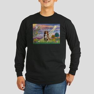 Cloud Angel / Aussie (rm) Long Sleeve Dark T-Shirt
