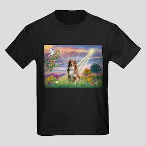 Cloud Angel / Aussie (rm) Kids Dark T-Shirt