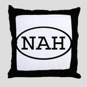 NAH Oval Throw Pillow