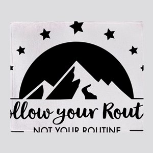 Follow your Route Throw Blanket
