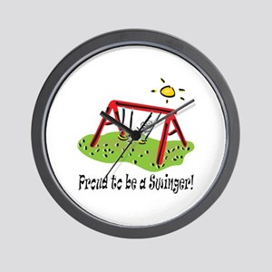 Proud to be a Swinger! Wall Clock