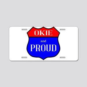 Okie And Proud Aluminum License Plate