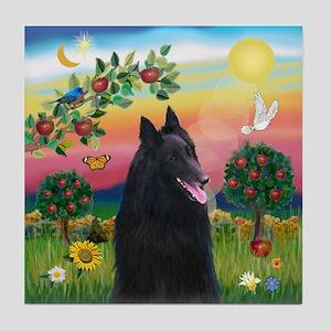 Bright Country & Belgian Shepherd Tile Coaster