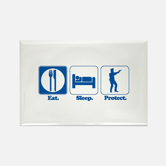 Eat. Sleep. Protect. (Police/Cop) Rectangle Magnet