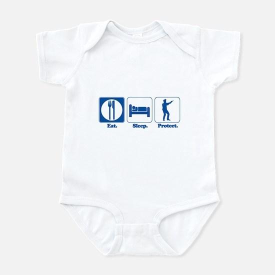Eat. Sleep. Protect. (Police/Cop) Infant Bodysuit