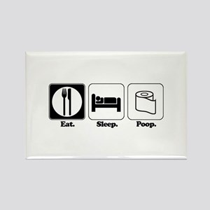Eat. Sleep. Poop. Rectangle Magnet