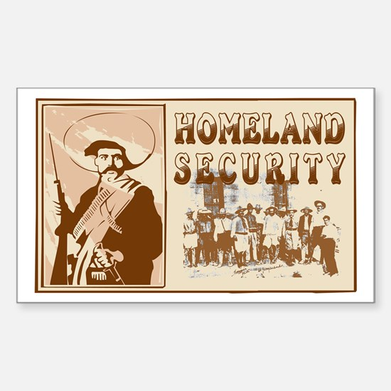 Mexican Homeland Security Rectangle Decal