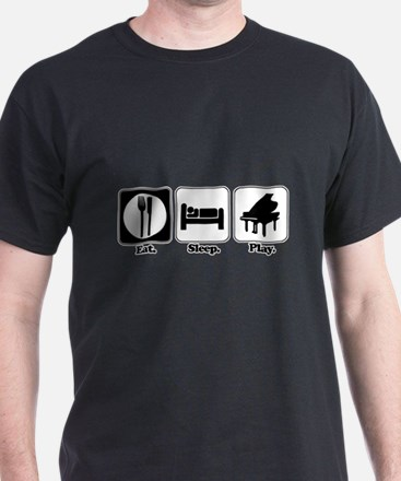 Eat. Sleep. Play. (Piano) T-Shirt