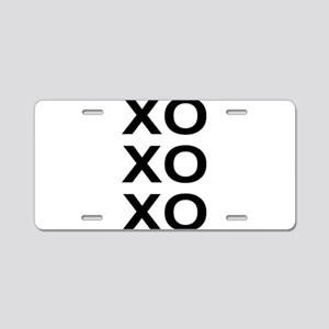xoxo Aluminum License Plate