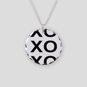 xoxo Necklace Circle Charm