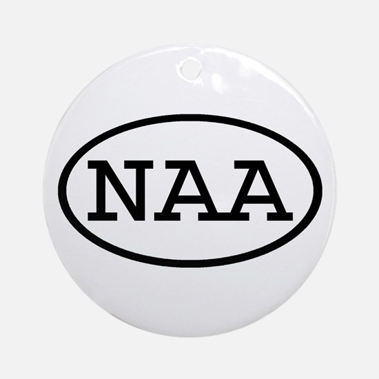 NAA Oval Ornament (Round)