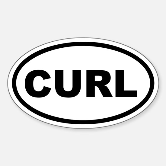 Curl Euro Oval Decal